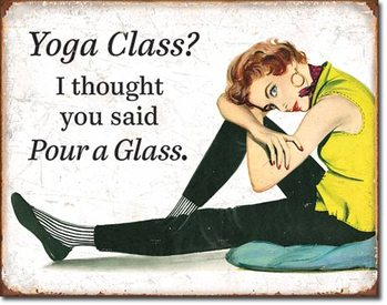 Yoga Class Metal Sign