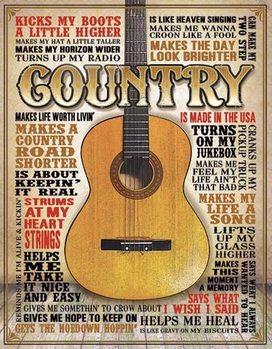 Metallikyltti Country - Made in America