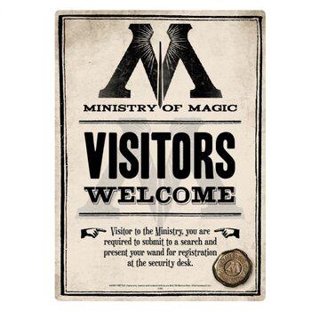 Metallikyltti Harry Potter - Ministry Of Magic