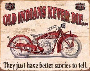 Metallikyltti INDIAN - better stories