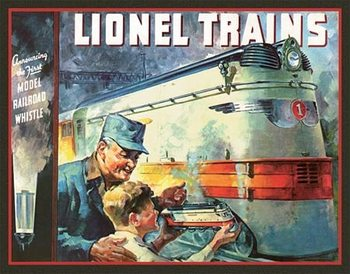 Metallikyltti Lionel 1935 Cover