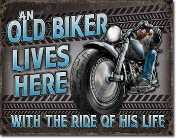 Metallikyltti Old Biker - Ride