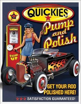 Metallikyltti QUICKIES - Pump & Polish
