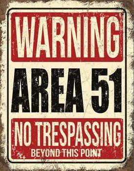 Metalllilaatta Area 51