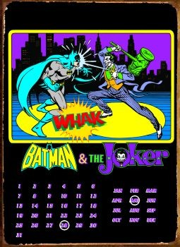 Metalllilaatta BATMAN & JOKER
