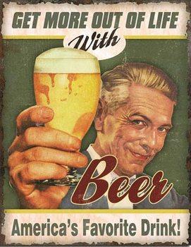 Metalllilaatta  Beer - America's Favorite