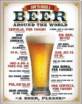 Metalllilaatta  BEER - How to Order a Beer