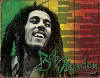 Metalllilaatta Bob Marley