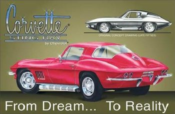 Metalllilaatta CHEVY - corvette stingray