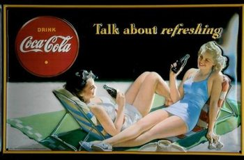 Metalllilaatta COCA COLA - TALK ABOUT IT 3D