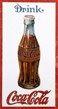 Metalllilaatta COKE BOTTLE