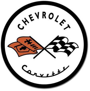 Metalllilaatta CORVETTE 1953 CHEVY - Chevrolet logo
