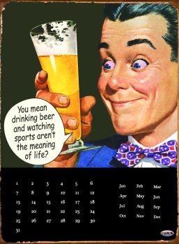 Metalllilaatta DRINKING BEER