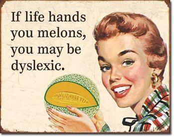 Metalllilaatta  Dyslexic Melons