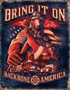 Metalllilaatta Fire Fighters - Bring It