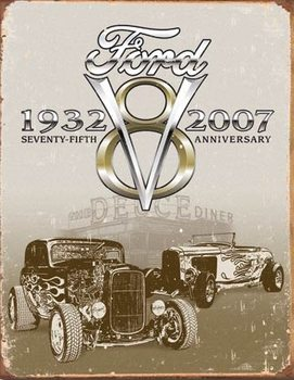 Metalllilaatta  Ford Deuce 75th Anniversary