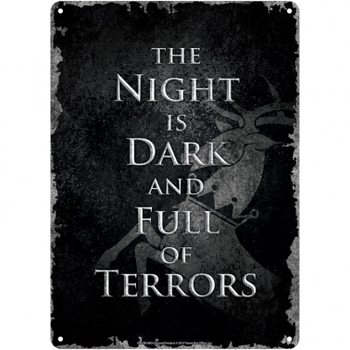 Metalllilaatta  Game Of Thrones - Night Dark
