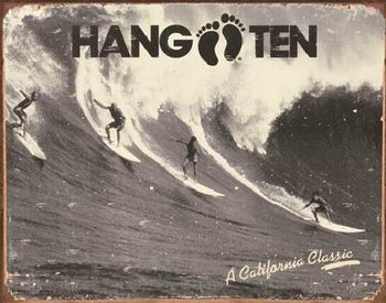 Metalllilaatta HANG TEN - california classic