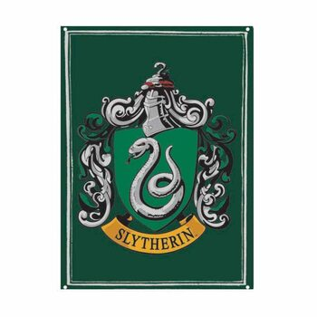 Metalllilaatta Harry Potter - Slytherin