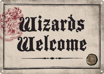 Metalllilaatta  Harry Potter - Wizards Welcome
