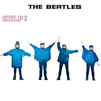 Metalllilaatta HELP! ALBUM COVER