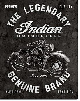 Metalllilaatta  Indian Motorcycles - Legendary