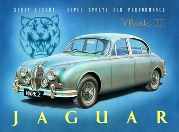 Metalllilaatta  Jaguar MK2