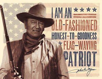 Metalllilaatta John Wayne - Patriot