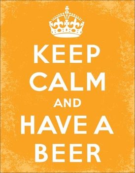 Metalllilaatta  Keep Calm - Beer