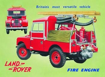 Metalllilaatta  Land Rover fire engine