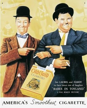 Metalllilaatta LAUREL & HARDY