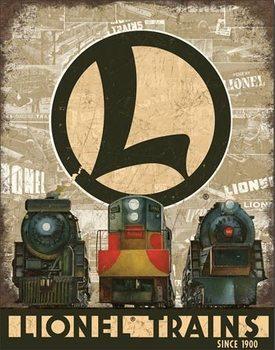 Metalllilaatta  Lionel Legacy