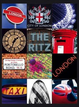 Metalllilaatta  LONDON COLLAGE 2
