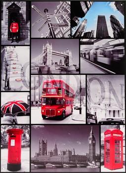 Metalllilaatta  LONDON SIGN