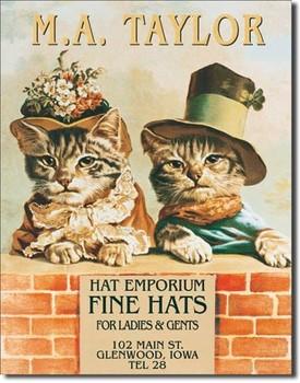 Metalllilaatta  M.A.TAYLOR HATS - 2 kittens