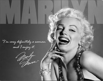 Metallikyltti MARILYN MONROE - definately