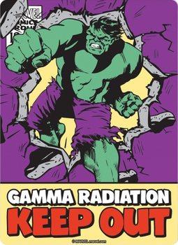 Metalllilaatta Marvel - Hulk
