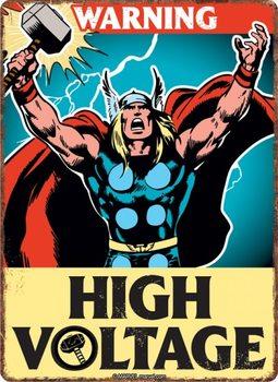 Metalllilaatta Marvel - Thor