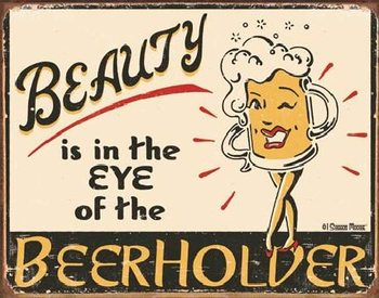 Metalllilaatta  MOORE - Eye of the Beerholder