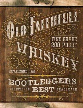 Metalllilaatta  Old Faithful Whiskey