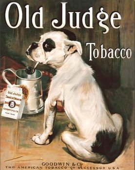 Metalllilaatta  Old Judge Tobacco