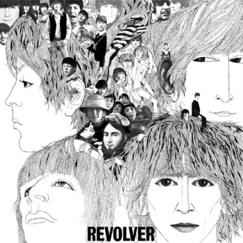 Metalllilaatta REVOLVER ALBUM COVER