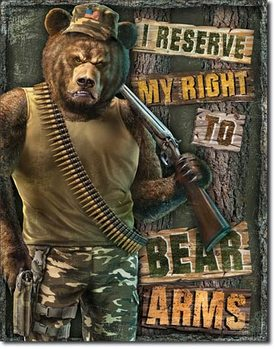 Metalllilaatta Right to Bear Arms
