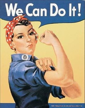 Metalllilaatta  ROSIE THE RIVETOR - we can do it