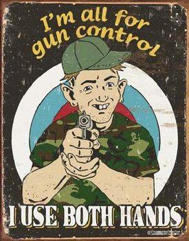 Metalllilaatta SCHONBERG - Gun Control