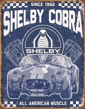 Metalllilaatta Shelby - American Muscle