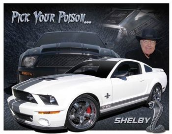 Metalllilaatta  Shelby Mustang - You Pick
