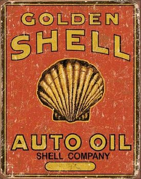 Metalllilaatta SHELL - Auto Oil