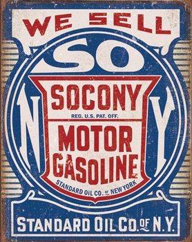Metalllilaatta Socony Gasoline