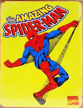 Metalllilaatta SPIDER-MAN - vintage